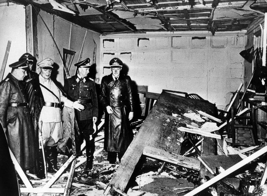 После взрыва.